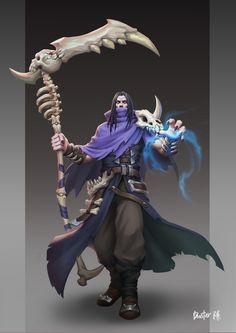 Necromancer by Xuanhan Chen on ArtStation. Game Character, Character Concept, Concept Art, Character Design, Fantasy Armor, Dark Fantasy Art, Dnd Characters, Fantasy Characters, Battle Mage
