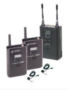 Azden 330ULT 2-Channel UHF Wireless Microphone System Azden http://www.amazon.com/dp/B004A77GL0/ref=cm_sw_r_pi_dp_IAnCub1F8BE4S