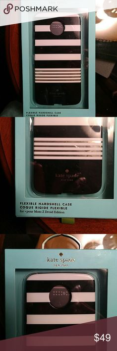 Selling this New Authentic Kate Spade Moto Z Droid Case on Poshmark! My username is: kammy3girls. #shopmycloset #poshmark #fashion #shopping #style #forsale #kate spade #Accessories