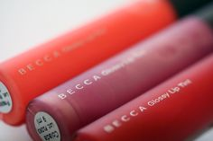 Becca- best quality lipglosses- perfect shade, not too sticky, just enough pigment and tastes good ;-)