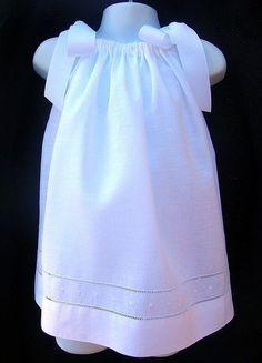 Beautiful pillowcase dress with hemstitch