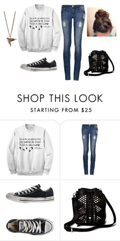 """""""Airport #2"""" by legitdinos ❤ liked on Polyvore featuring Converse, Akira and Dorothy Perkins"""