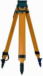 Quick Clamp Wood Fiberglass Tripod - Quick Clamp Instrument tripod accommodates 5/8 x 11 instruments. It has telescoping legs, allowing for setup at various heights. This tripod is ideal for mounting lasers, total stations and auto levels. The tripod extends 72 inches (1.82 m) and features a flat head. Weighs 16.5 lb (7.5 kg). Benchmark Tool & Supply, Inc. For more info: 800-311-2734