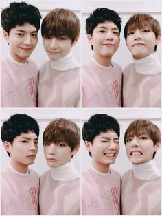 Park Bo-gum et Kim Taehyung (Bts) 2ne1, Asian Actors, Korean Actors, Korean Idols, Bts Boys, Bts Bangtan Boy, Yoongi Bts, Bts Jimin, Kpop