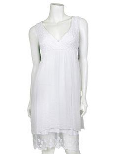 Damen Kleid mit Seide, weiss von Diana bei www.meinkleidchen.de