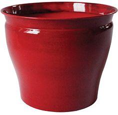 Robert Allen Home and Garden Avery Round Pot Planter Color: Autumn Blaze, Size: H x W x D Ceramic Wall Planters, Metal Planters, Flower Planters, Flower Pots, Decorative Planters, Plastic Planter Boxes, Window Planter Boxes, Plastic Pots, Corten Steel Planters
