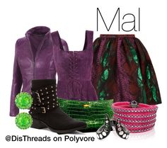 """Mal Descendants Disneybound by DisThreads"" by disthreads on Polyvore"