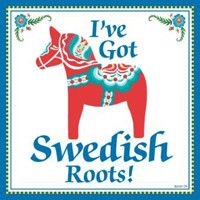 Decorative Swedish Gift Plaque: Swedish Roots..