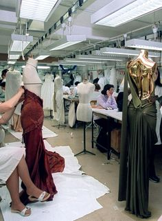 Atelier for Christian Dior Haute Couture Spring 2001.
