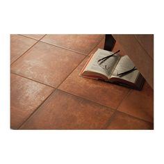 Marazzi Studio Life Black Terracotta 12 in. x 12 in. Glazed Porcelain Floor and Wall Tile sq. / - The Home Depot Entryway Flooring, Bedroom Flooring, Terracotta Floor, Red Floor, Rust Color, Porcelain Floor, Diamond Pattern, Wall Colors, Wall Tiles