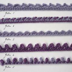 Galon 1 Picot = 3 mailles en l'air, 1 maille coulée dans la 1re maille en l'air. Crocheter une chaînette d'un nombre de mailles en l'air m...