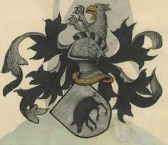 Armorial de la Table ronde.  Date d'édition :  1490-1500  Ms-4976  Folio 143r
