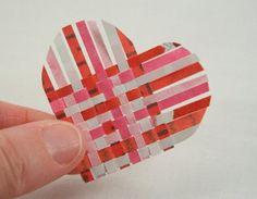 Weaving Paper Hearts - Tutorial ❥ 4U // hf