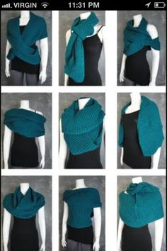 Different ways to wear a infinity scarf  From google