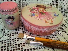 Toka da Arte Atelier: Caixa redonda e pote de vidro floral!