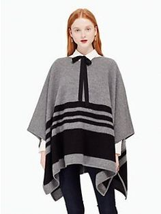 a poncho with panache? indeed: this warm wool pullover is a great alternative to…