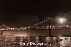 Bay Bridge by moonlight by Serena Gerfy, via 500px