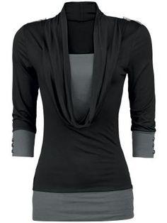 Naisten pitkähihainen paita - Paita Isolla Kaula-aukolla