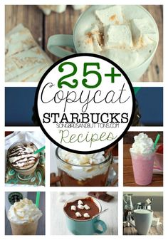 Hi! Happy Sunday! Do we have any Starbucks fans in the house? Today I'm sharing a list of 25+ Starbucks CopyCat drinks that you can make at home! I am a total Starbucks addict and I was looking for a few drinks I could make at home to save some money! Because, as you know …