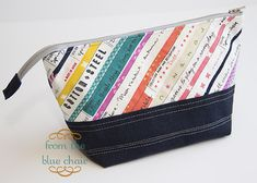 from the blue chair: New Pouches - one zipper and one clasp