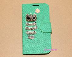 Green leather iPhone 4/4s/5/5s caseSamsung Galaxy by sunnydodo