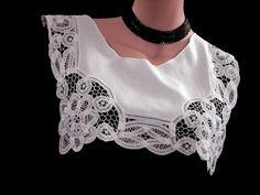 Lace Collar Vintage Battenburg Lace and Linen  #unknown#vintagelaceandlinen