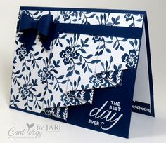 Includes specific instructions for making the drapery fold card. Gorgeous.