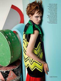 Abstract Thinking: Freja Beha Erichsen By Mario Testino For UK Vogue September 2014