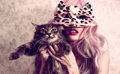 audrey kitching, cat, girl, girls and cats, mask Cute Fashion, Girl Fashion, Lazy Fashion, Classic Fashion, Fashion Women, Fashion Design, Fashion Tips, Fashion Trends, Crazy Cat Lady