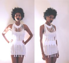 DIY Fringe Halter Top