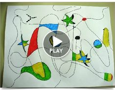 Joan Miró Art Lessons For Kids, Art Lessons Elementary, Art For Kids, Mondrian, Miro Artist, Artist Project, 2nd Grade Art, School Painting, Doodle Coloring