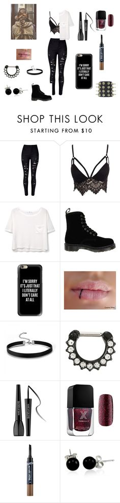 """""""In This Moment meet up"""" by riley-mcmullen on Polyvore featuring Club L, MANGO, Dr. Martens, Casetify, MAKE UP FOR EVER, Touch in Sol and Bling Jewelry"""