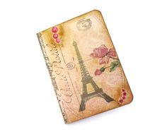 Paris Journal, Mini, Vintage Paris, Parisian, Eiffel Tower, French Ephemera, Shabby Pink Notebook, Altered Art Journal