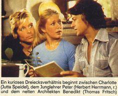 """drei sind einer zu viel   Drei sind einer zuviel -- ZDF -- """"Hörzu"""" Nr. 34 / 1977, S. 33:"""