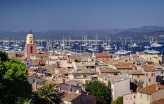 View of Saint-Tropez and its harbor in the French Riviera  #monogramsvacation