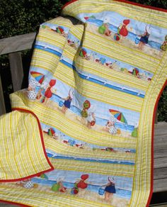 Beach Crib Quilt, Nursery Be... from CentralFabrications on Wanelo