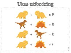ukas utfordring Maths Sums, Math Stem, Math Talk, Math Challenge, Logic Puzzles, Picture Puzzles, First Grade Math, Math For Kids, Brain Teasers