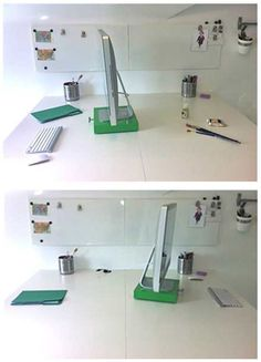 love this idea if I decide to just use a portion of my craft table as a desk...