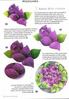 Flor de Santa Rita tutorial 3