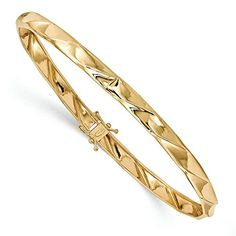 Polished   14k Yellow gold   Open back   Safety clasp   Round   Flexible   Twisted   Product origin: INDONESIA   Bracelet Type: Bangle   Material: Primary: Gold   Material: Primary - Color: Yellow   M...