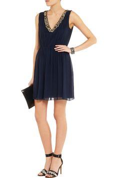 Alice + OliviaThym embellished silk-chiffon mini dressfront