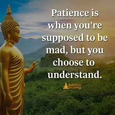 Patience is an understand