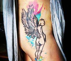 Angel tattoo by Barbara Kiczek