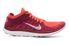 Nike Wmns Nike Free 4.0 Flyknit (Orange) - Chaussures de sport chez Sarenza (186748)
