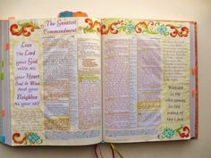 A Palette Full of Blessings: Bible Art Journaling page
