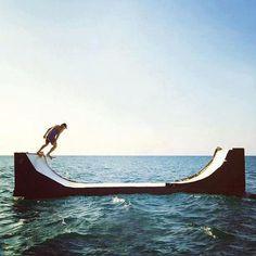 Skate everything. #skateboarding