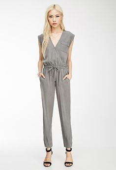 Brushed Surplice Utility Jumpsuit | Forever 21 - 2000055533