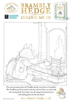 Adult Coloring Pages of Brambly Hedge !!! from Wildlife Watch