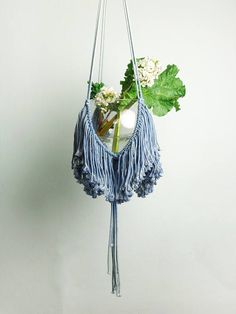 MODERN, LARGE macrame plant hanger in OMBRE LIGHT BLUE. For a really big pot - diameter 20-25 cm (7,9 - 9,8) Total length: 128 cm (50,4) (Please note – plant and pot not included in the offer). 100% handmade We ship WORLDWIDE! Shipping to Europe normally takes 5-8 working days, to US, Canada – 7-15 working days. Thank you for visiting MOX macrame. To see other my plant hanger click here: https://www.etsy.com/shop/MOXmacrame?ref=hdr_shop_menu§ion_id=18990181
