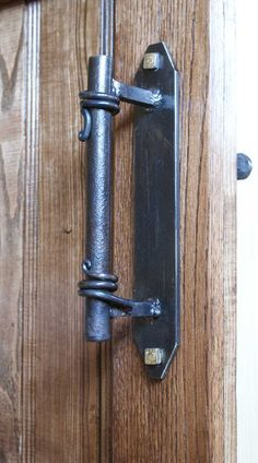 Barn door handle Front door handle Metal handles Forged handles for doors gates wickets Hand forged Ste&unk style Industrial style | Best Barn door ... & Barn door handle Front door handle Metal handles Forged handles ... pezcame.com